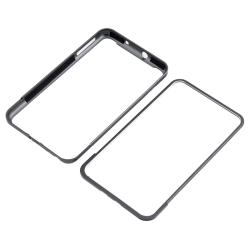 INSTEN Grey Metal Bumper for Samsung Galaxy Note N7000 - Thumbnail 1