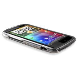 Black Brushed Aluminum Snap-on Case for HTC Sensation 4G