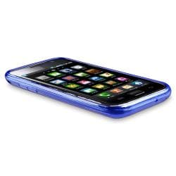 Clear Blue Diamond TPU Rubber Skin Case for Samsung Galaxy S i9000