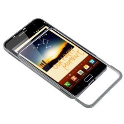 INSTEN Grey Metal Bumper for Samsung Galaxy Note N7000 - Thumbnail 2
