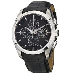 Tissot Men's 'Couturier' Black Dial Leather Strap Chronograph Watch