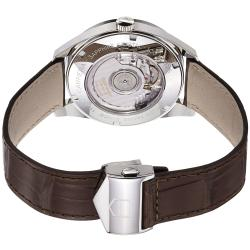 Tag Heuer Men's 'Carrera' Silver Dial Brown Leather Strap Watch - Thumbnail 1