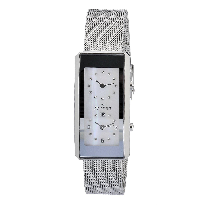 Skagen Women's Rectangular Dual-time Watch