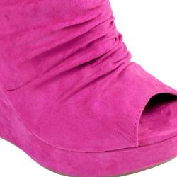 Journee Collection Women's 'TWIST-3' Open Toe Wedge Bootie - Thumbnail 2