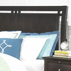 Ikle Rich Espresso King-size Transitional Low Profile Bed