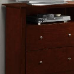 Adlington Warm Cherry 2-drawer Casual TV Chest - Thumbnail 1