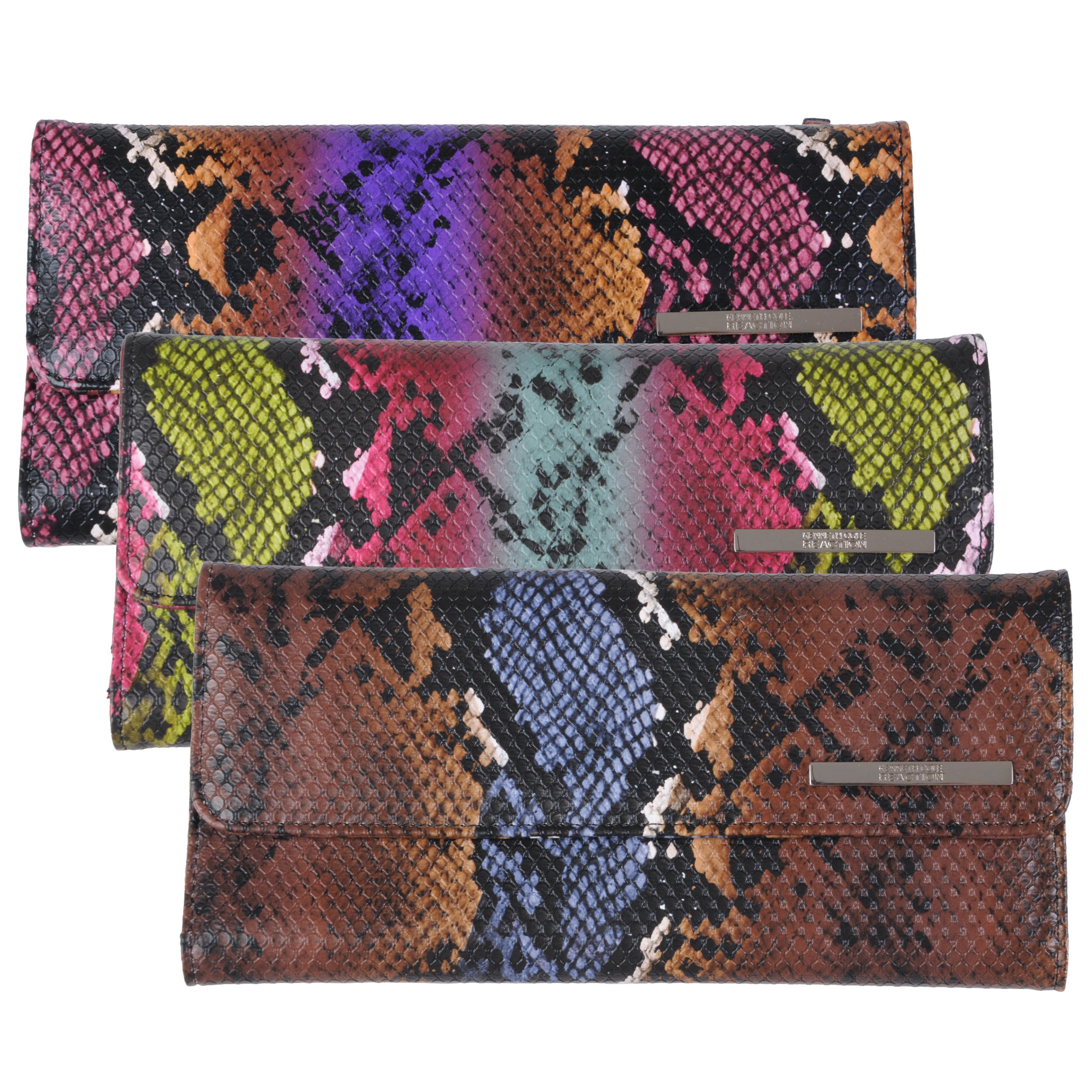 Kenneth Cole Reaction Womens Multi Color Python Print