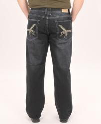 Jeans Colony Men's Relaxed Fit Embroidered Jeans - Thumbnail 1