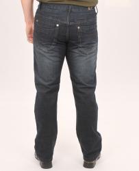 Brooklyn Xpress Men's Straight Leg Dark Wash Jeans