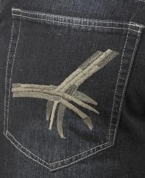 Jeans Colony Men's Relaxed Fit Embroidered Jeans - Thumbnail 2