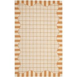 Safavieh Hand-hooked Chelsea Ivory/ Gold Wool Rug - 7'6 x 9'9 - Thumbnail 0