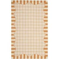 Safavieh Hand-hooked Chelsea Ivory/ Gold Wool Rug - 7'6 x 9'9