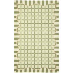 Safavieh Hand-hooked Chelsea Ivory/ Green Wool Rug - 3'9 x 5'9 - Thumbnail 0