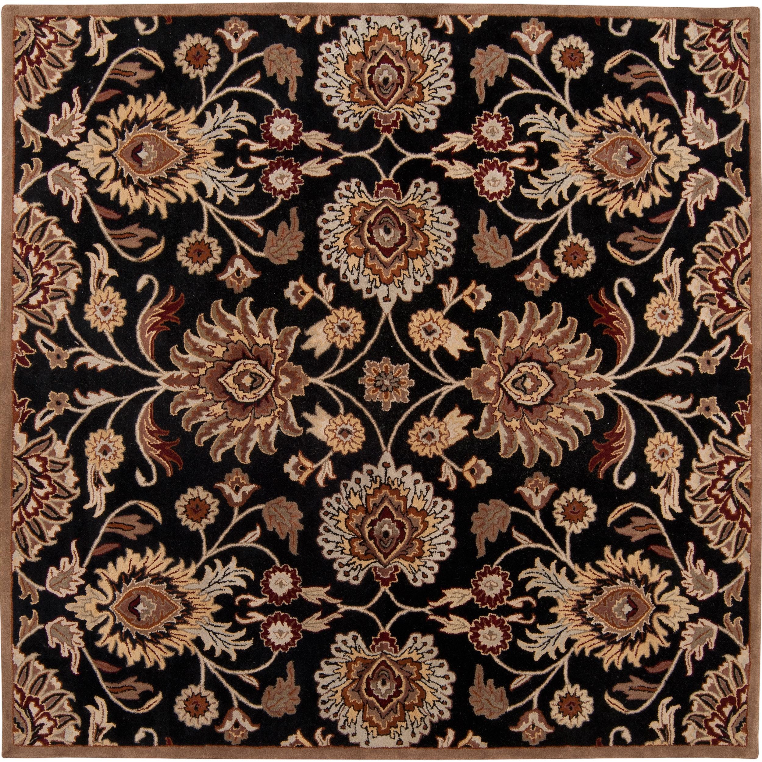 9x9 Bedroom: Hand-tufted Maroon Kiser Wool Rug (9'9 Square)