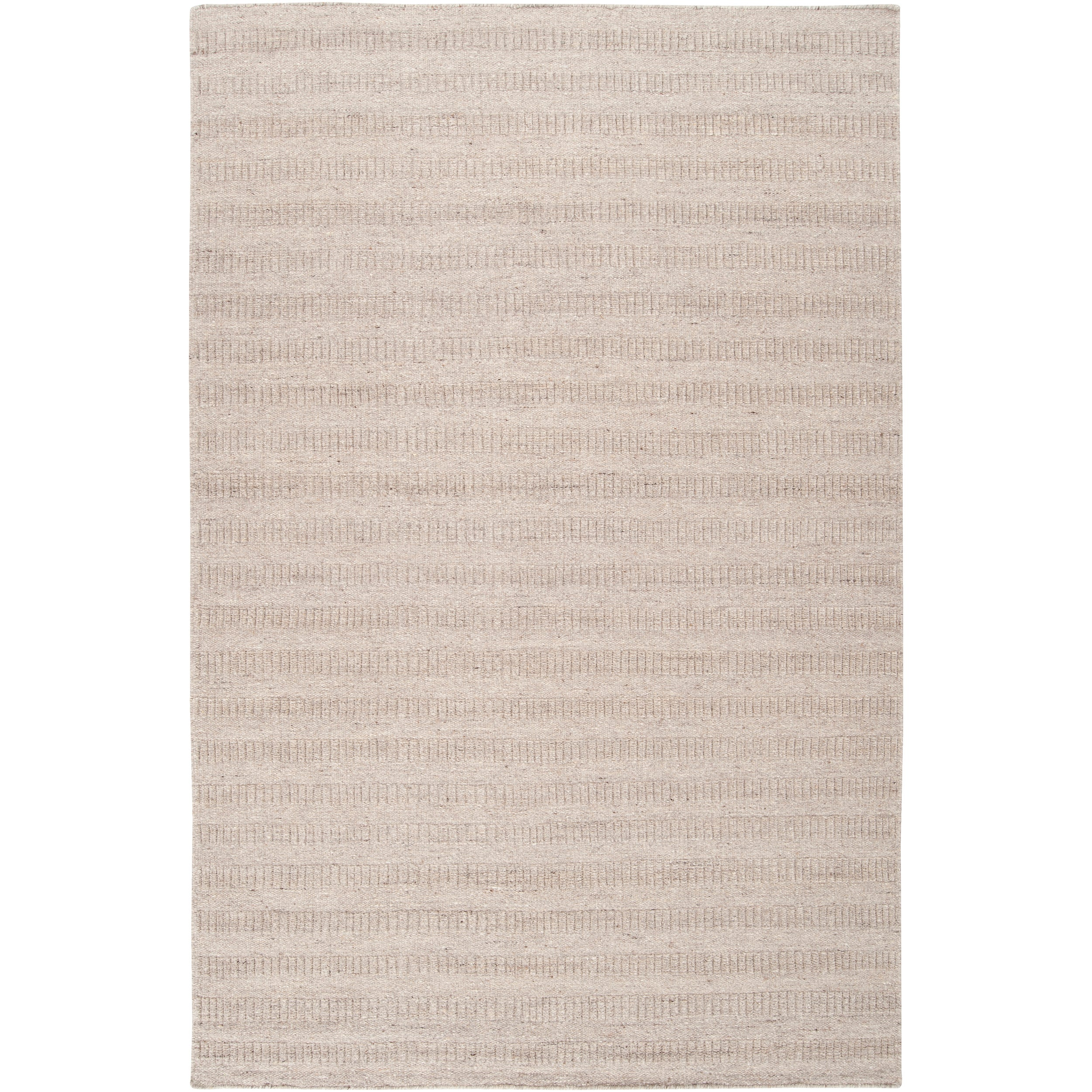 Hand-crafted Solid Grey Baham  Wool Rug (8' x 10')
