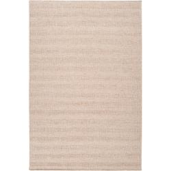 Hand-crafted Solid Beige Baham Wool Rug (8' x 10')