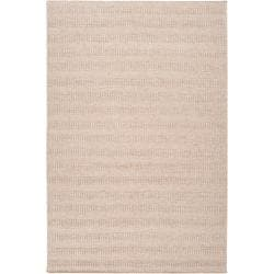 Hand-crafted Solid Beige Baham Wool Area Rug (8' x 10') - 8' x 10' - Thumbnail 0