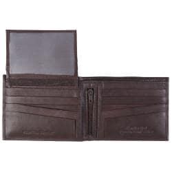 Boston Traveler Men's Topstitched Bi-fold Genuine Leather Wallet