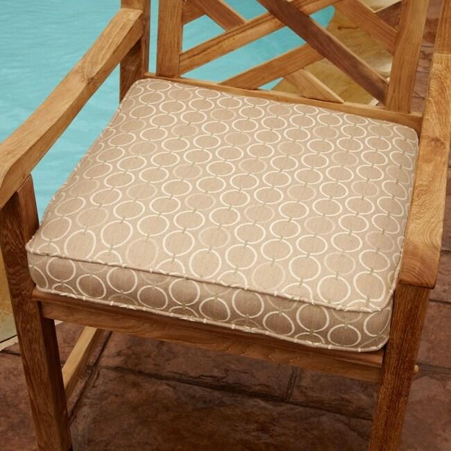 Clara Beige 19-inch Square Outdoor Sunbrella Chair Cushion