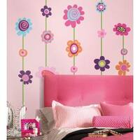 Flower Stripe Peel & Stick Giant Wall Decal