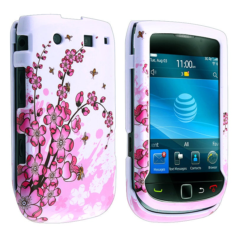 MYBAT Spring Flowers Snap-on Case for Blackberry Torch 9800
