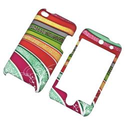 Colorful Strips Rubber Coated Case for Apple iPod Touch Generation 4 - Thumbnail 1