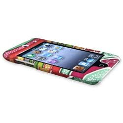 Colorful Strips Rubber Coated Case for Apple iPod Touch Generation 4 - Thumbnail 2