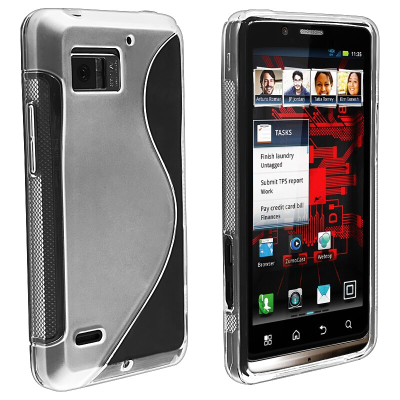 Clear S Line TPU Rubber Case for Motorola Droid Bionic Targa XT875