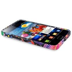 Black/ Colorful Fish and Circle TPU Case for Samsung Galaxy S II i9100 - Thumbnail 1