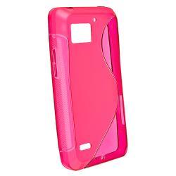 Clear Hot Pink S Line TPU Case for Motorola Droid Bionic Targa XT875 - Thumbnail 1