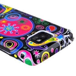 Black/ Colorful Fish and Circle TPU Case for Samsung Galaxy S II i9100 - Thumbnail 2