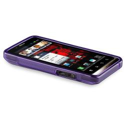 Clear Purple S Line TPU Case for Motorola Droid Bionic Targa XT875 - Thumbnail 2
