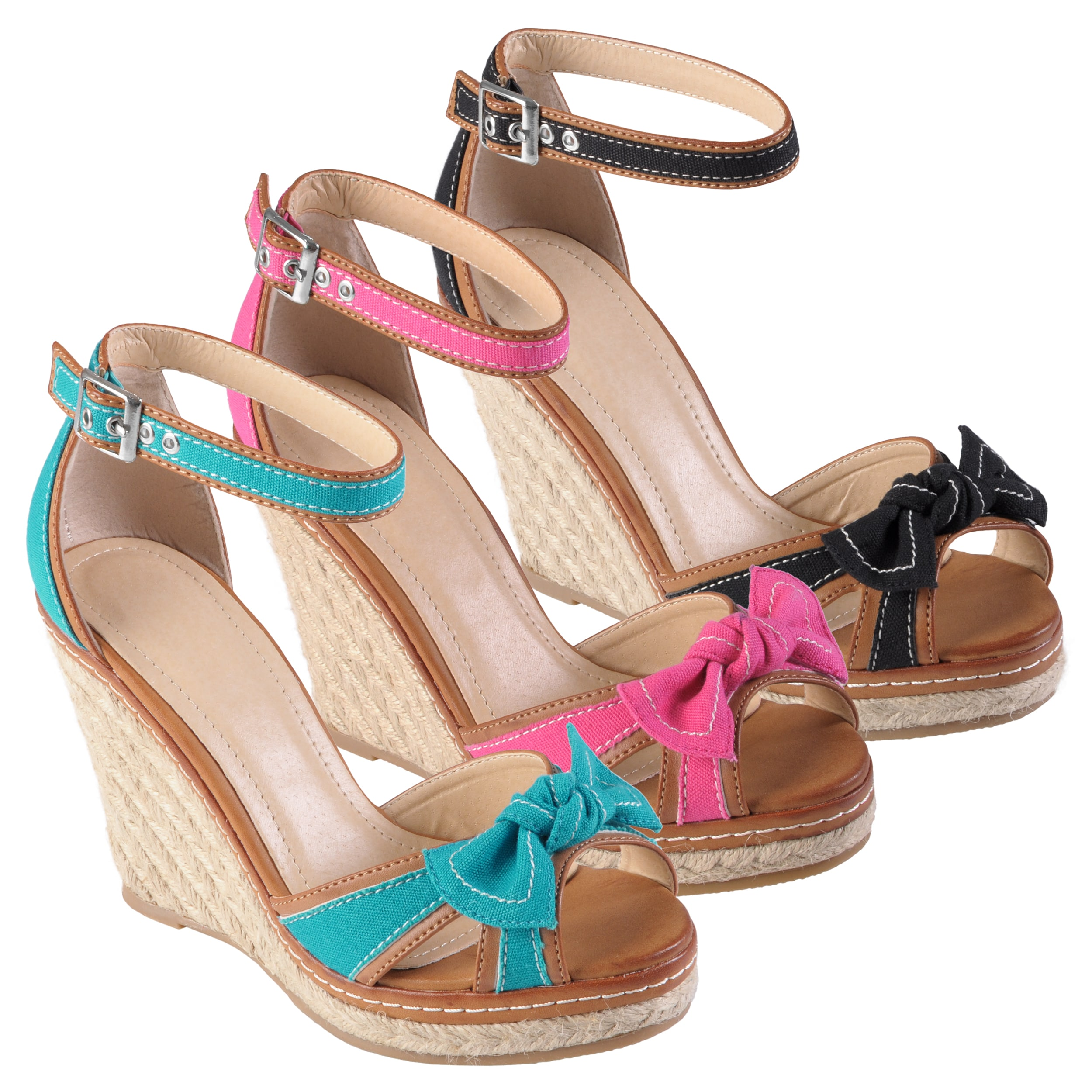Journee Collection Women's 'Pinot-03' Bow Espadrille Wedges