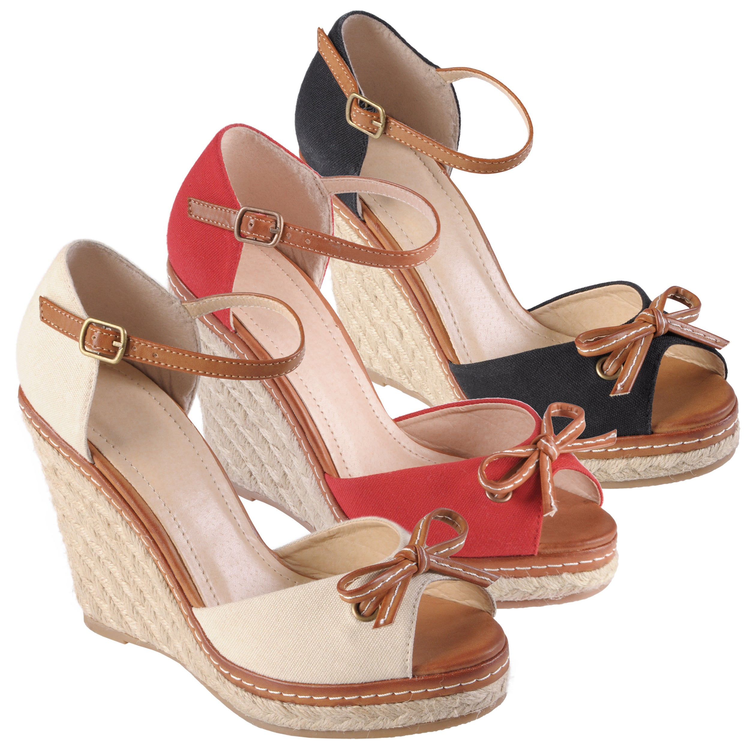 Journee Collection Women's 'Pinot-04' Bow Ankle Strap Wedges