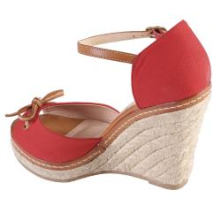 Journee Collection Women's 'Pinot-04' Bow Ankle Strap Wedges - Thumbnail 1