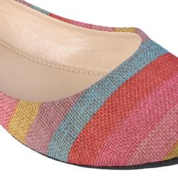 Journee Collection Women's 'Crush-80' Multi-color Striped Ballet Flats - Thumbnail 2