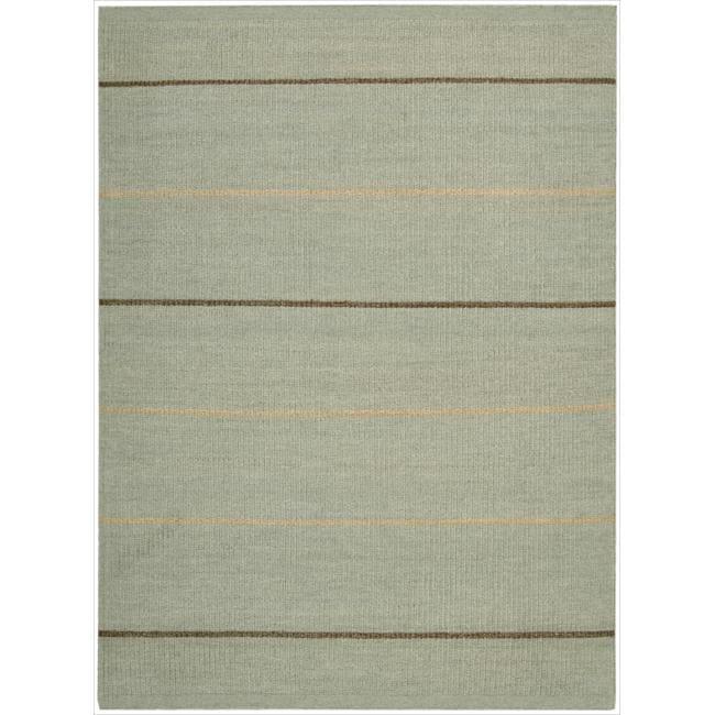 Nourison Hand-tufted Green Horizon Rug (2'6 x 4')
