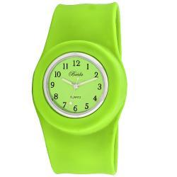 Breda Women's 'Lilly' Slap-on Green Silicone Watch