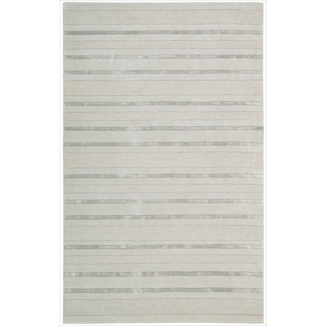 Nourison Hand-tufted Grey Sahara Area Rug (5'3 x 7'5)