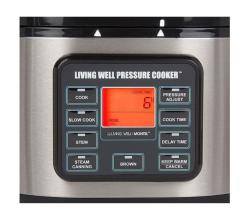 Montel Williams Living Well 5-quart Stainless Steel Pressure Cooker (Refurbished) - Thumbnail 2
