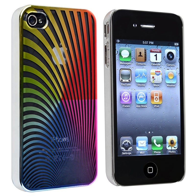 Rainbow Swirl Snap-on Case for Apple iPhone 4/ 4S