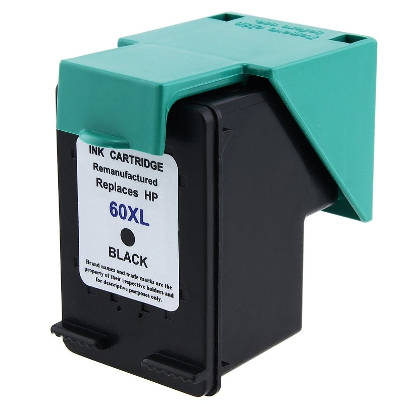 HP 60XL/ CC641WN Black Ink Cartridge (Remanufactured)