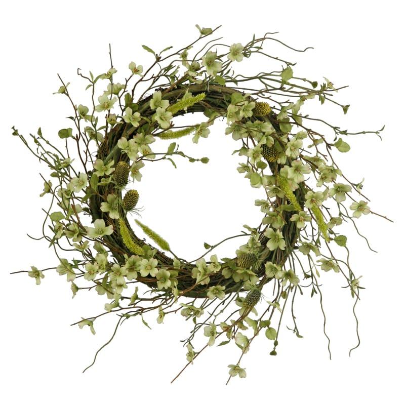 Wild Dogwood 22-inch Wreath