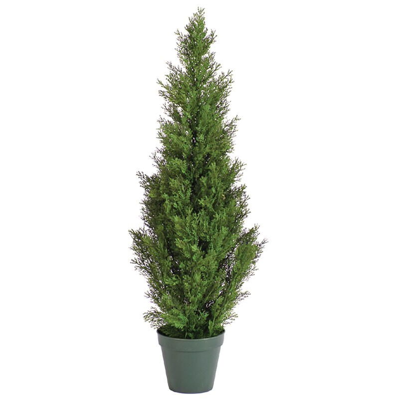 Potted 36-inch Faux Ceder Pine Tree