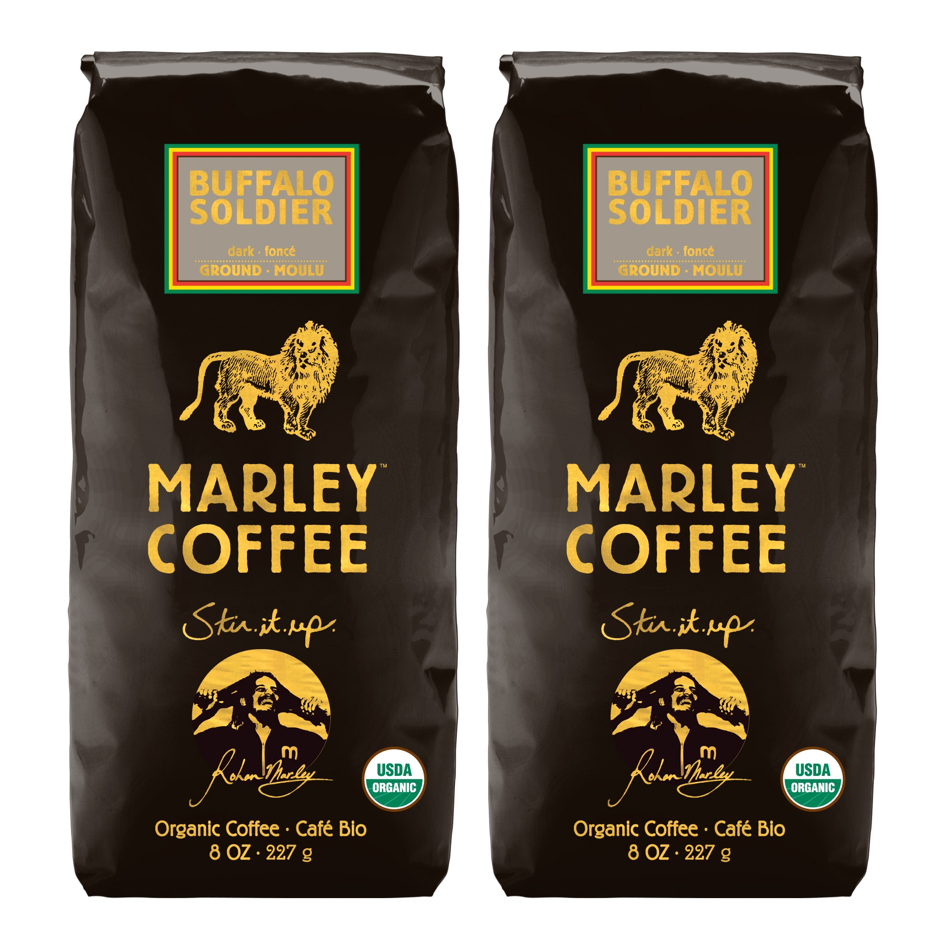 Marley Coffee Buffalo Soldier Ground Coffee (1 Pound)