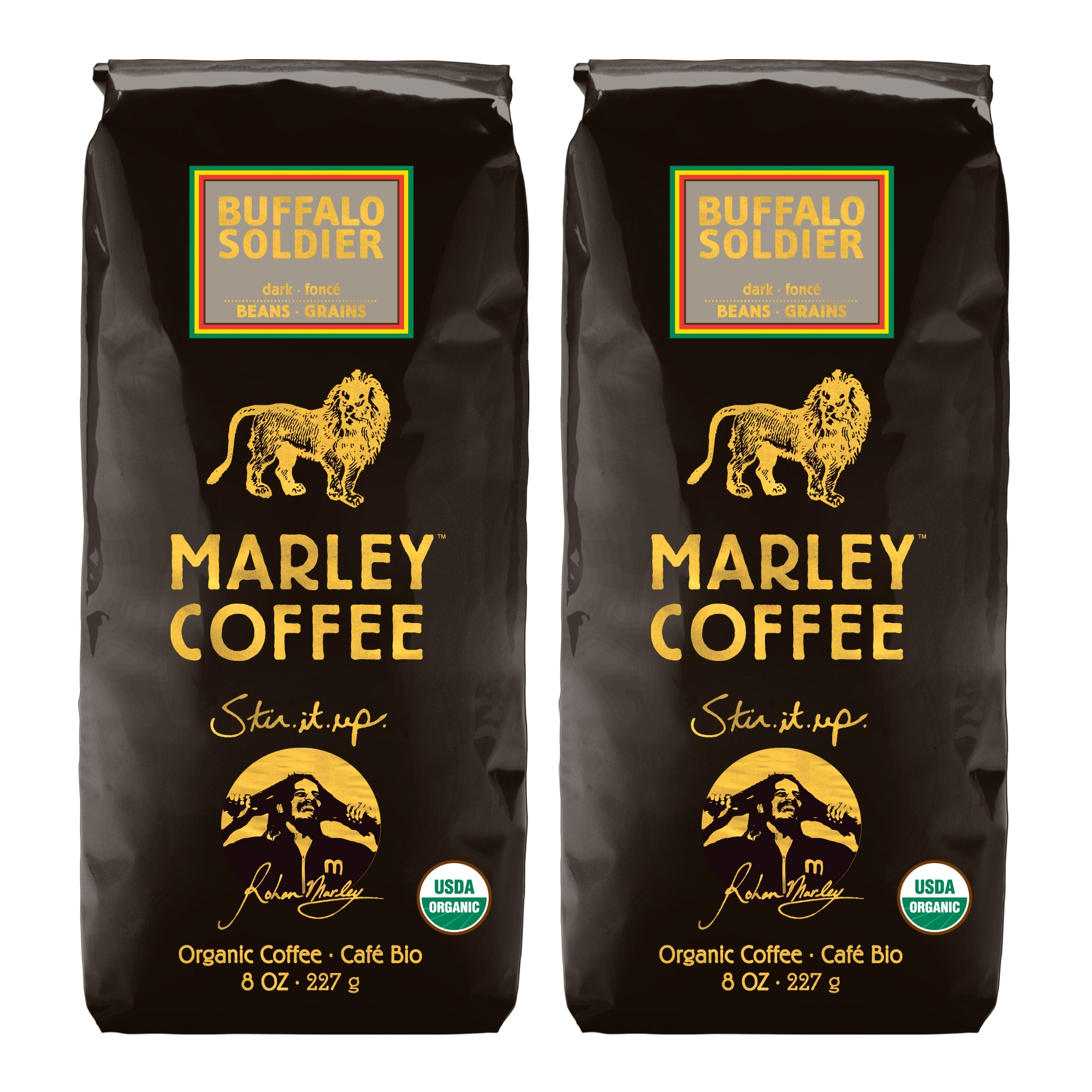 Marley Coffee Buffalo Soldier Whole Bean Coffee (1 Pound) - Thumbnail 0