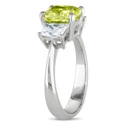Miadora 18k Gold 2 7/8ct TDW Certified Yellow and White Diamond Ring (G-H, VS2) - Thumbnail 1