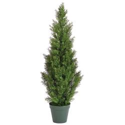 Potted 36-inch Faux Ceder Pine Tree - Thumbnail 0