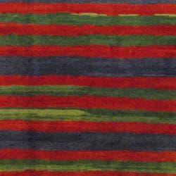 Tibetan Hand-knotted Rust/ Green Wool Rug (8' x 9'9) - Thumbnail 2