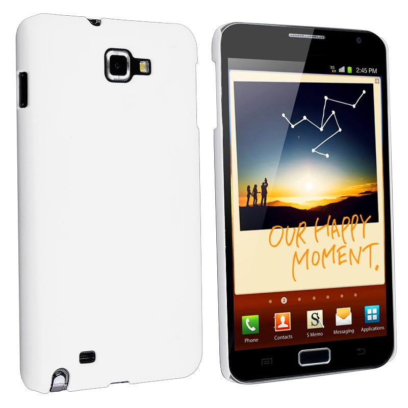 White Matte Snap-on Case for Samsung Galaxy Note N7000